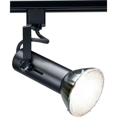 1-Light 2 in. Black Universal Holder Track Lighting Head