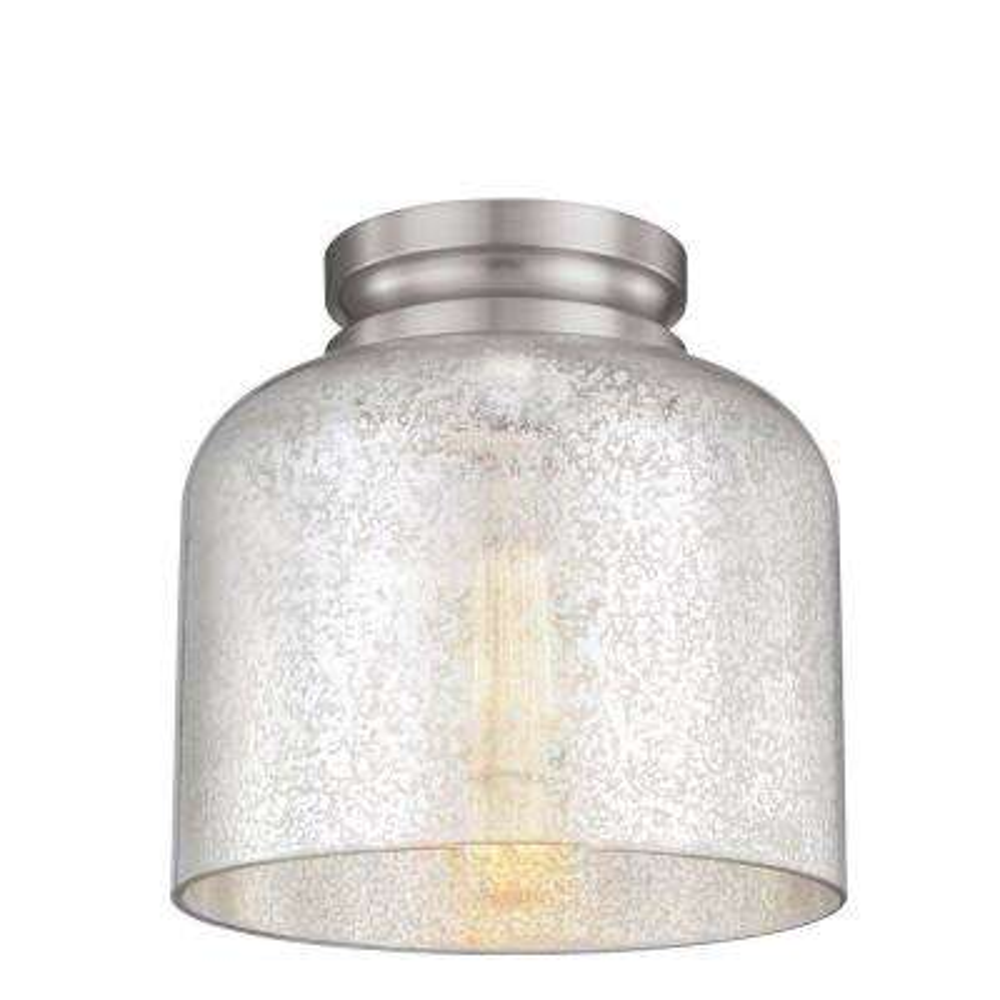 Hunslow 1-Light Brushed Steel Flushmount