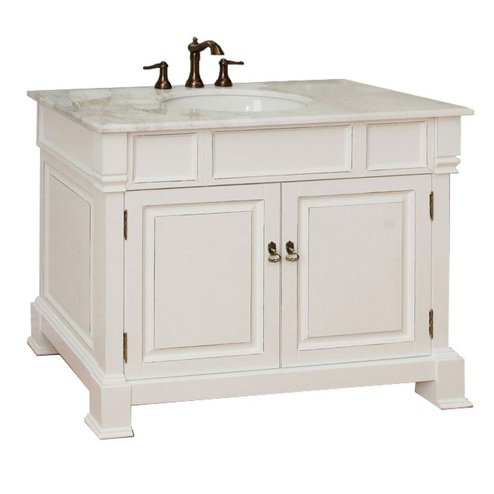 Bellaterra Home Olivia 42 in. W x 35-1/2 in. H Single Vanity in ...