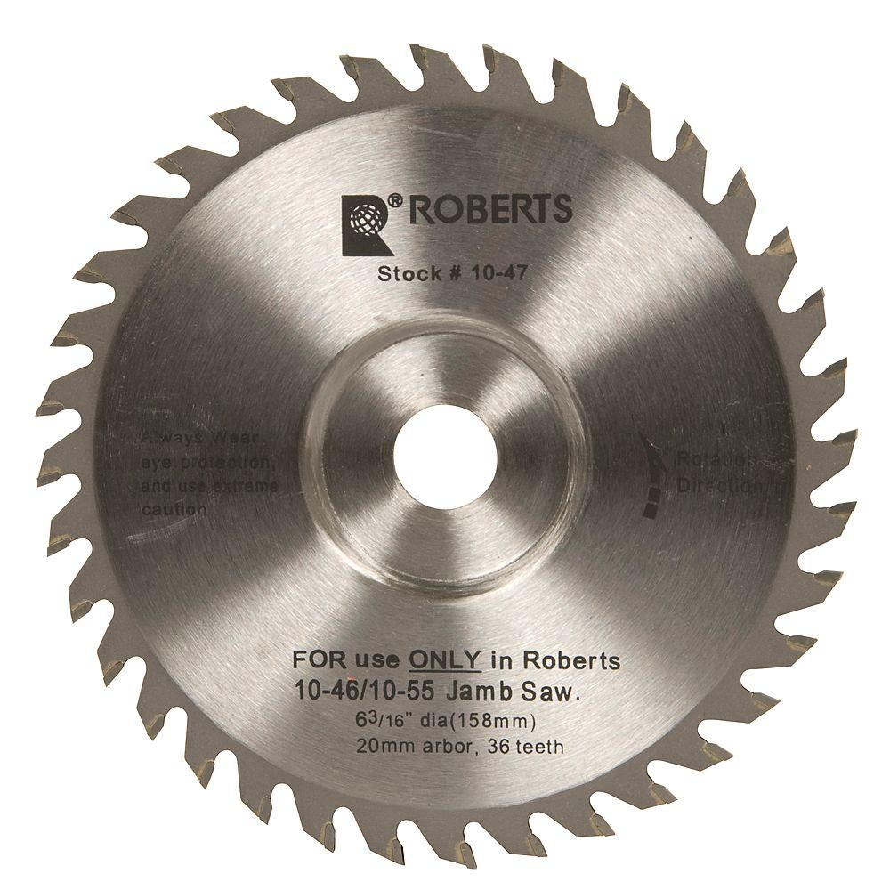 Roberts 6-3/16 in. 36-Tooth Carbide Tip Saw Blade for 10-56 Jamb and Undercut Saw