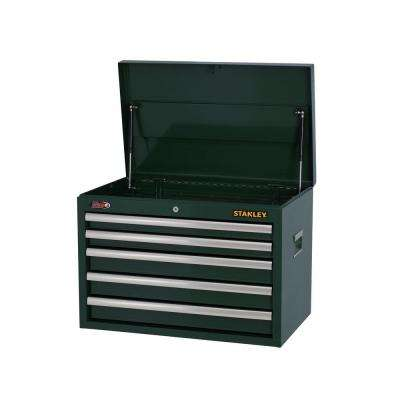 26 in. 5-Drawer Wide Tool Chest, Dark Green