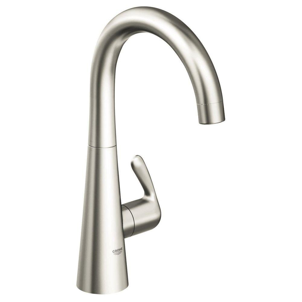 GROHE LadyLux 3 Single-Handle Bar Faucet in SuperSteel Infinity ...