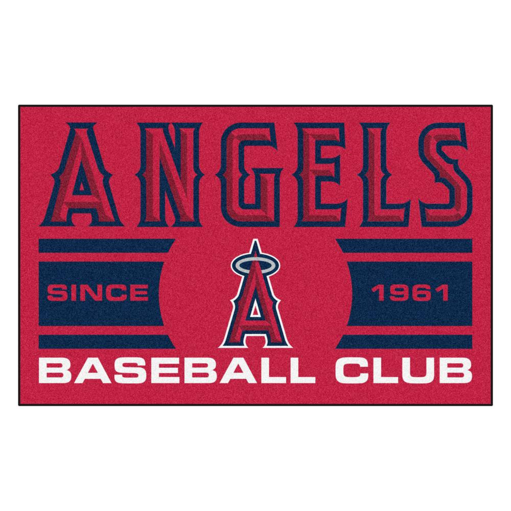 Fanmats Mlb Los Angeles Angels Red 2 Ft X 3 Ft Area Rug 18471