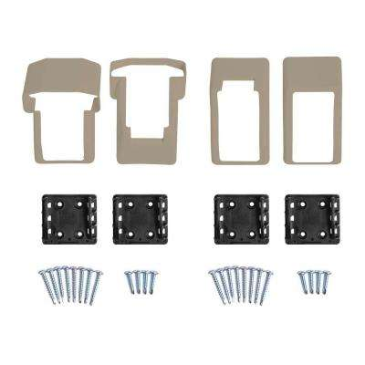 Vanderbuilt/Delray/Bellaire/Vilano Khaki Stair Railing Bracket Kit (4-Piece)