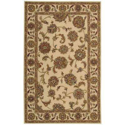 India House Ivory 3 ft. 6 in. x 5 ft. 6 in. Area Rug