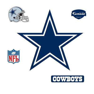 39 in. H x 42 in. W Dallas Cowboys Logo Wall Mural