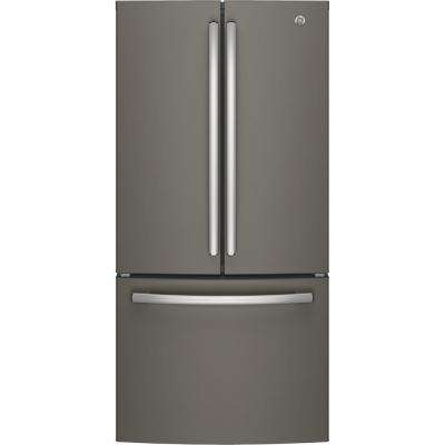 33 in. W 18.6 cu. ft. French Door Refrigerator in Slate, Counter Depth and Fingerprint