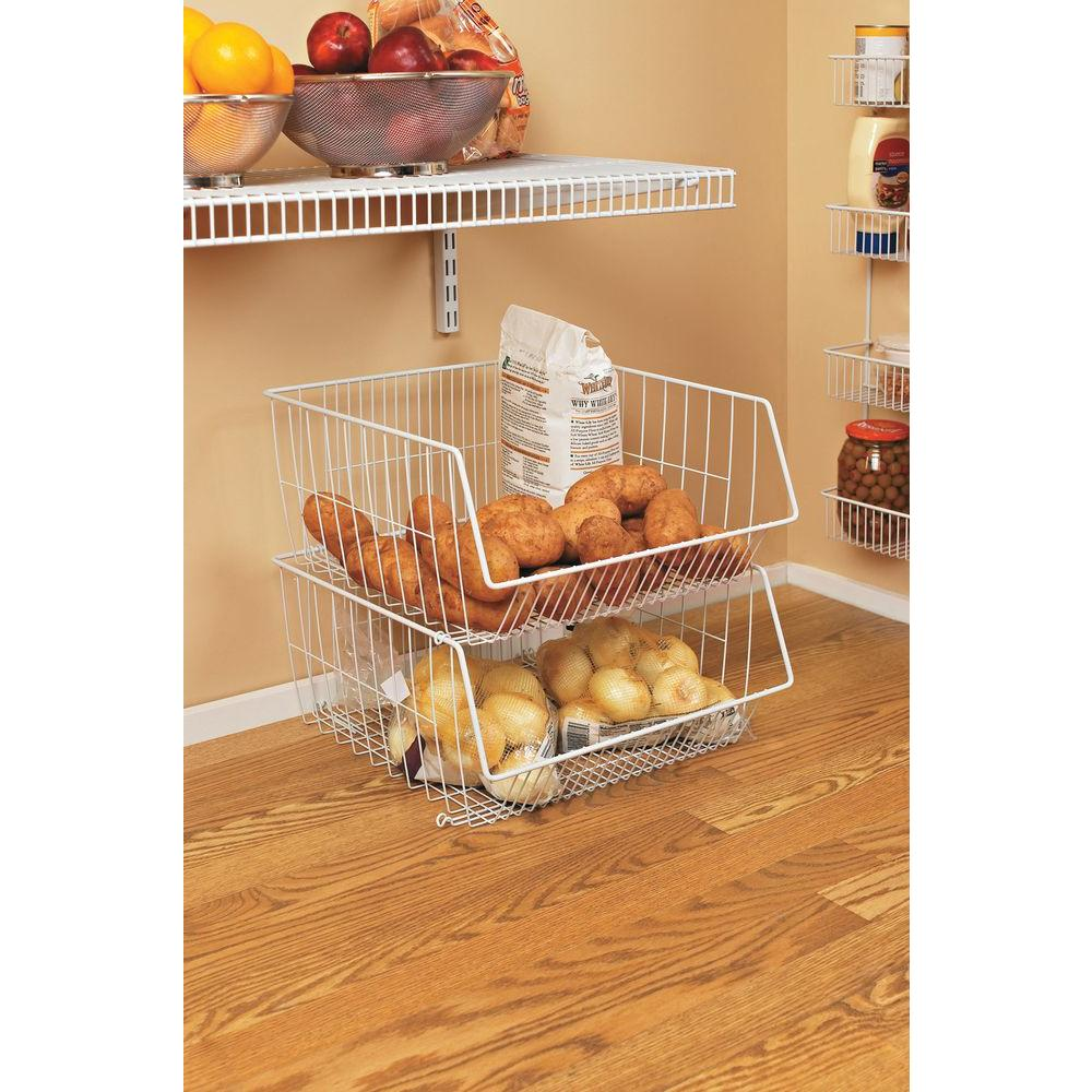 Stack Or Hang Wire Storage Basket