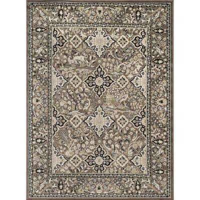 Tiffany Madeline Taupe 8 ft. x 11 ft. Oversize Area Rug