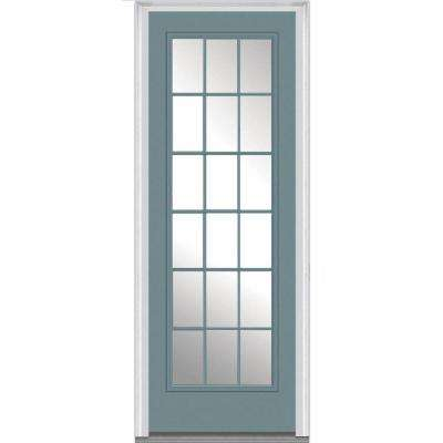 36 In. X 96 In. Clear Glass Right Hand 18 Lite External Grilles