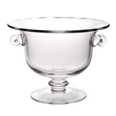 Champion 13 in. Clear European Mouth Blown Handmade Crystal Bowl