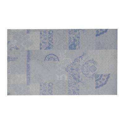 Dandy Blue/Gray 2 ft. x 7 ft. Indoor/Outdoor Runner Rug