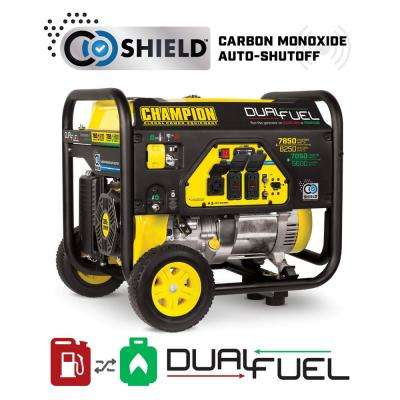 6250-Watt Dual Fuel Powered Portable Generator with CO Shield Technology