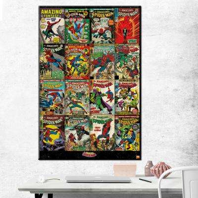 "24 in. x 36 in. ""Spider-Man - Covers"" Printed Canvas Wall Art"