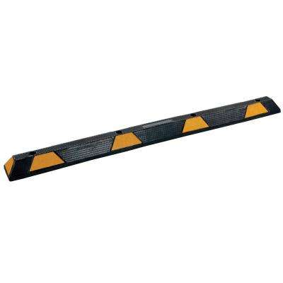 71.75 in. Recycled Black Rubber Car Stop