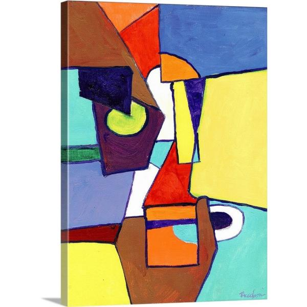 Simple Abstract Thoughts By Randy Riccoboni Canvas Wall Art