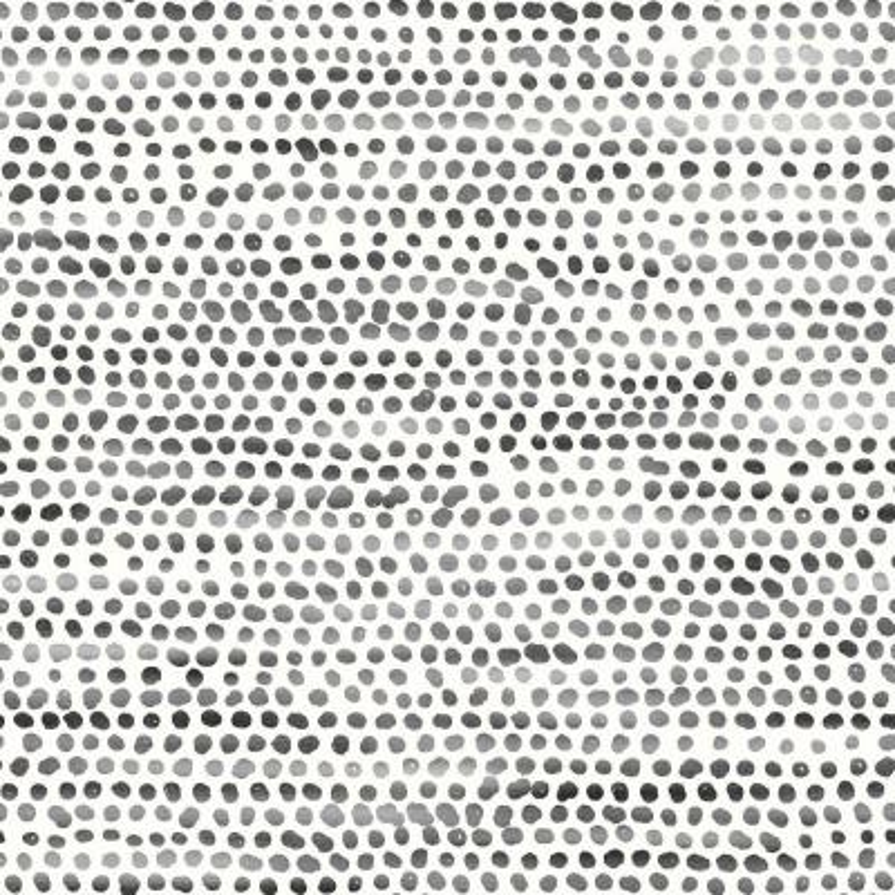 Moire Dots Black & White Peel and Stick Wallpaper 28 sq. ft.