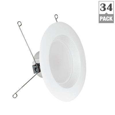 75W Equivalent Soft White 5/6 in. White Baffle-Trim Recessed Retrofit Downlight LED 90 CRI Maintenance Pack (24-Pack)