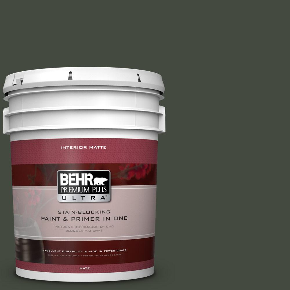 5 gal. #BXC-12 Deep Forest Matte Interior Paint