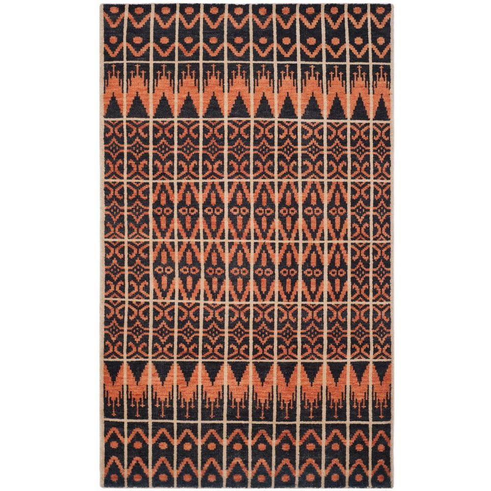 Safavieh Kenya Orange Black 8 Ft X 10 Area Rug