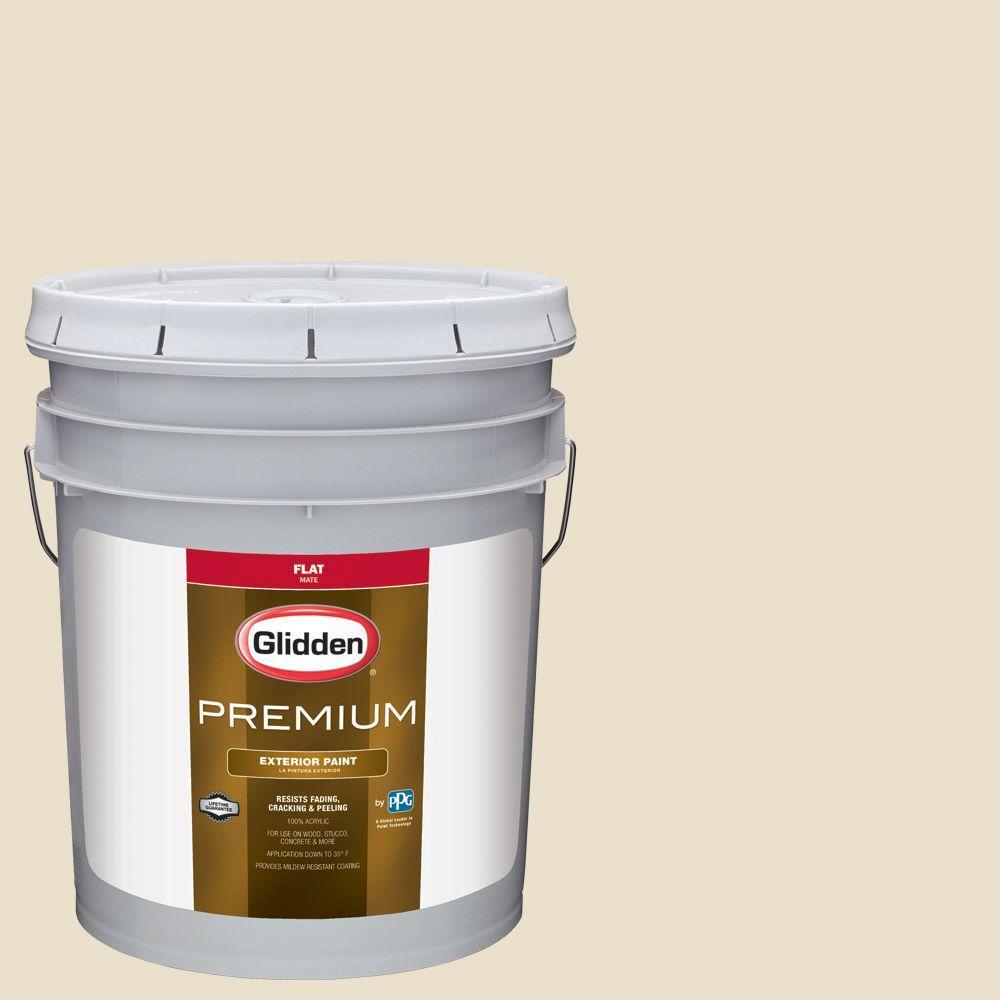 5-gal. #HDGWN41 Eloquent Ivory Flat Latex Exterior Paint