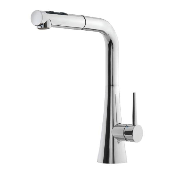 Soma Single-Handle Pull Out Sprayer Kitchen Faucet with CeraDox Technology in Polished Chrome