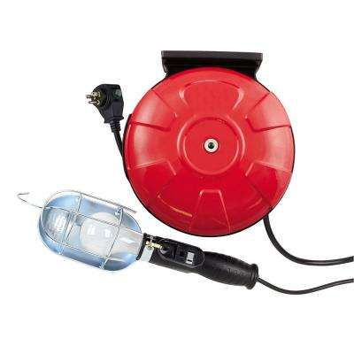 75-Watt 40 ft. 16/3 SJTW Incandescent Guarded Trouble Work Light with Retractable Cord Reel