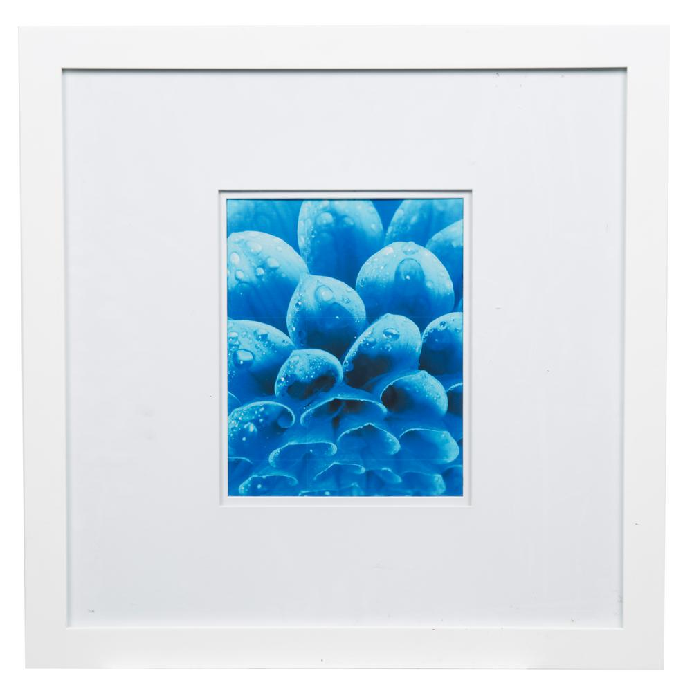 Pinnacle Gallery 8 in. x 10 in. White Double Mat Picture Frame ...