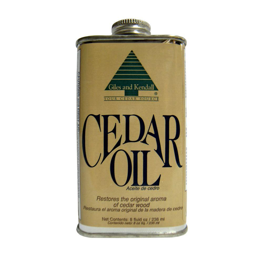 Giles Kendall 8 Oz Cedar Oil Oil008 The Home Depot