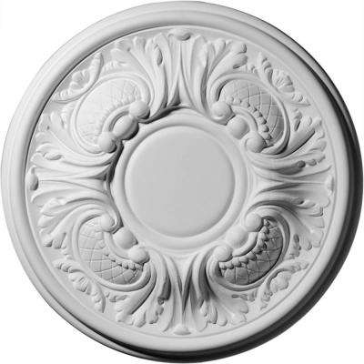 11-3/4 in. OD x 1-1/4 in. P (Fits Canopies up to 3-5/8 in.) Wakefield Polyurethane Ceiling Medallion