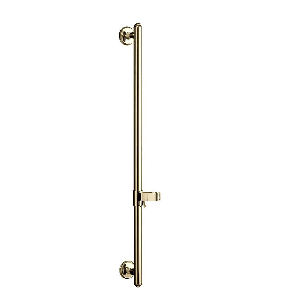 Kohler Brass Slide Bar in Vibrant French Gold-K-8524-AF - The Home ...