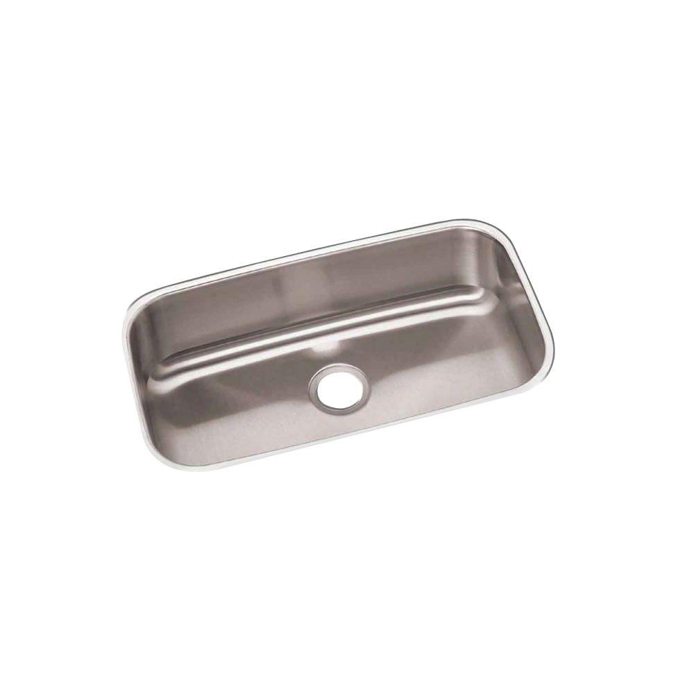 Revere Elkay Undermount Stainless Steel 31 in. 0-Hole Bowl Kitchen Sink