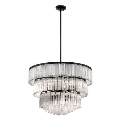 Ziccardi Collection 9-Light Bronze Chandelier with Glass Shade