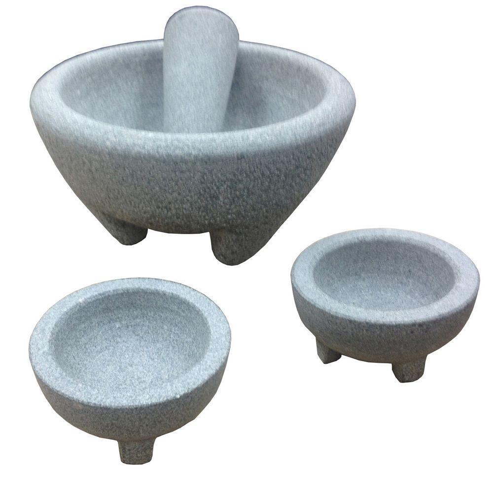 IMUSA Granite 4-Piece Molcajete Guacamole Set-GKA-61019 - The Home ...