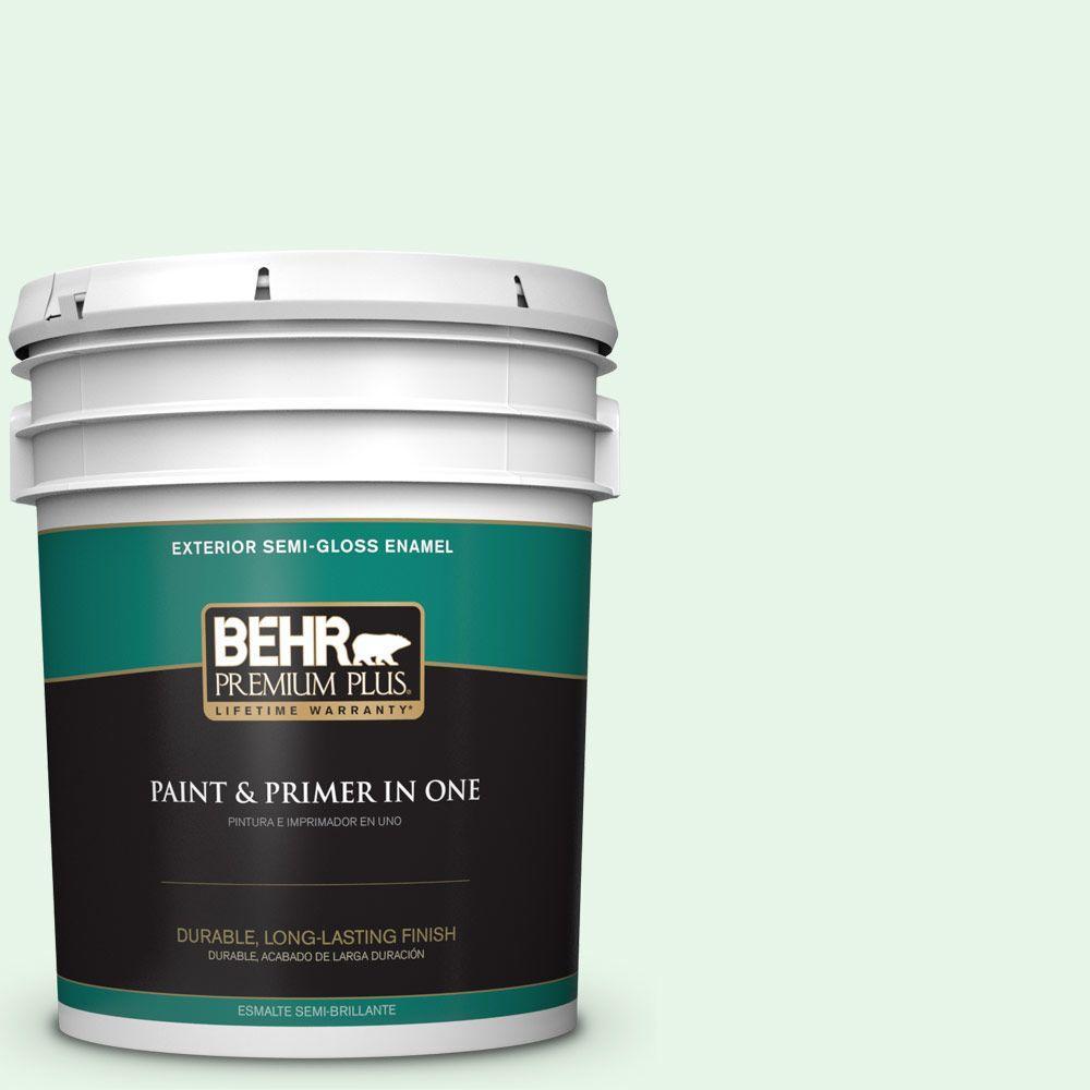 BEHR Premium Plus 5-gal. #450C-1 Dinner Mint Semi-Gloss Enamel Exterior Paint