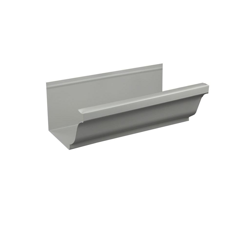 5 in. x 8 ft. K-Style Colonial Gray Aluminum Gutter