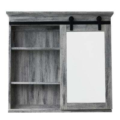 31 in. x 29 in. Barn Door Medicine Cabinet