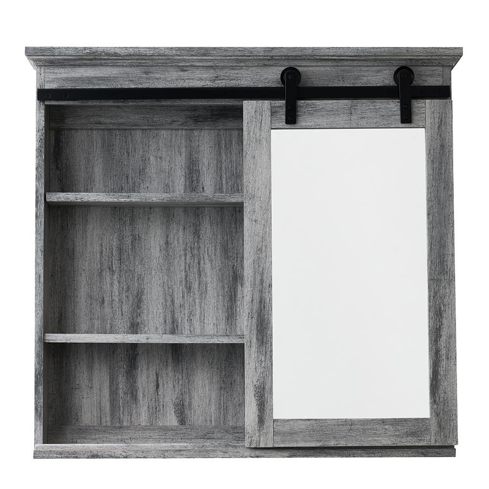 31 in. x 29 in. Barn Door Medicine Cabinet