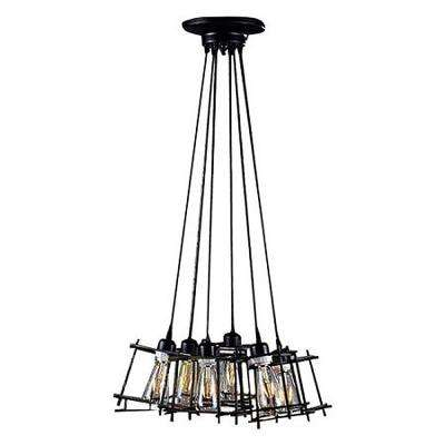 Titania Edison 6-Light Black Pendant