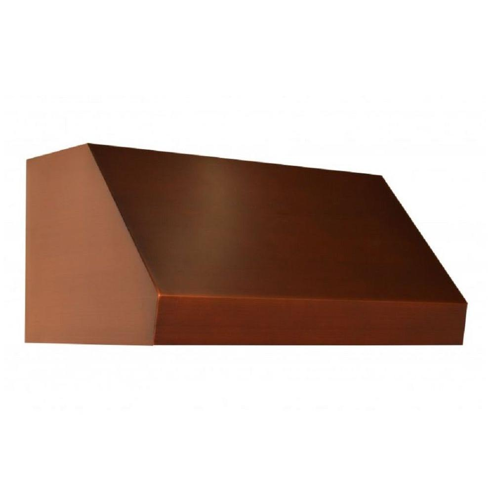 Zline Kitchen And Bath Zline 36 In. 1200 Cfm Under Cabinet Range Hood In Copper, Baked 7 Layer Copper Finish
