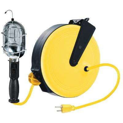 Incandescent Trouble Light with Metal Housing Reel