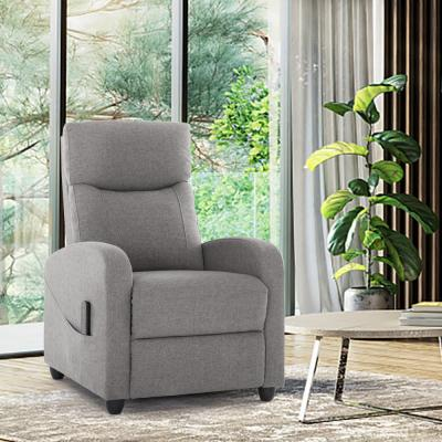 Recliner Chair Modern Massage Sofa for Living Room Fabric Gray 1 Piece