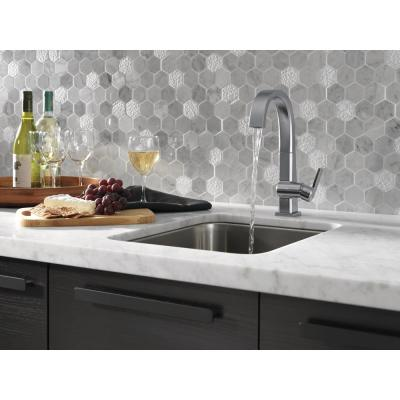 Pivotal Single-Handle Bar Faucet in Arctic Stainless