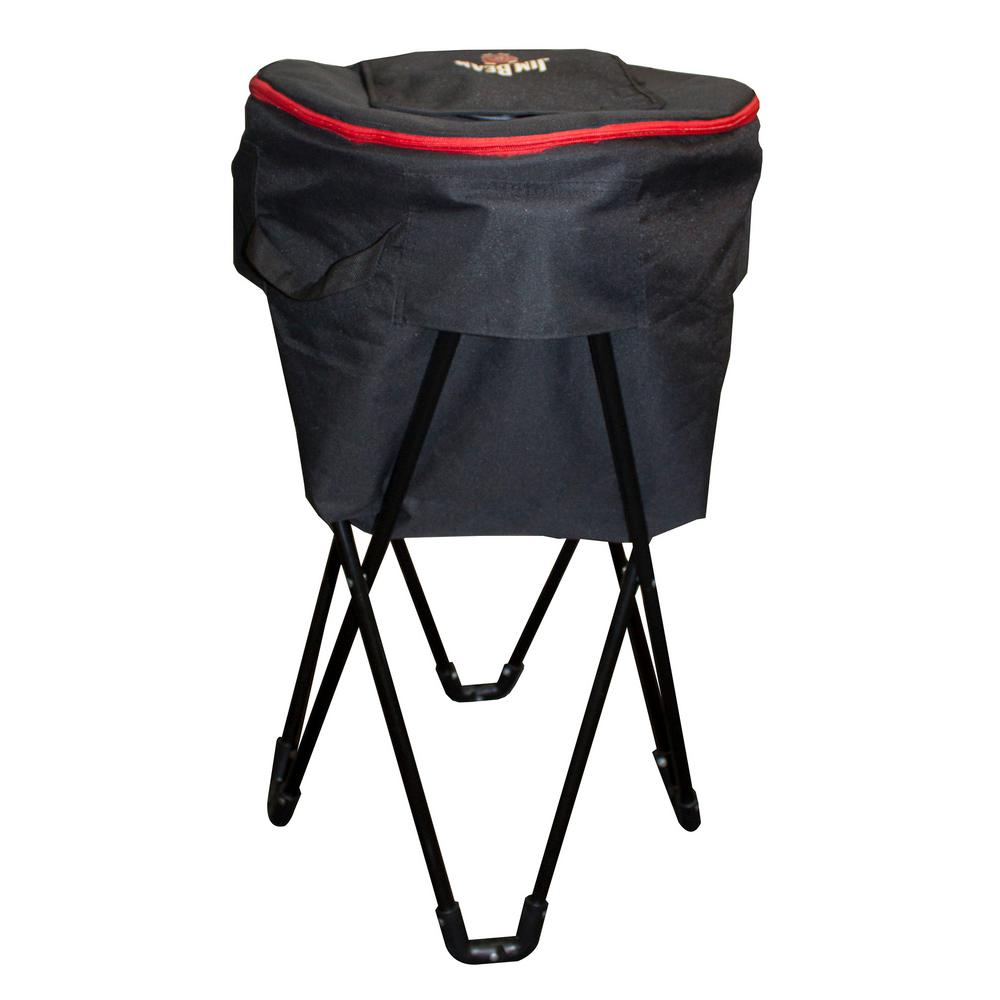 32 in. Metal Tub Cooler Stand With Carry Case