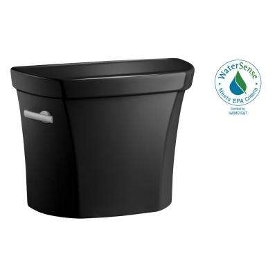 Wellworth 1.0 GPF Single Flush Toilet Tank Only in Black Black