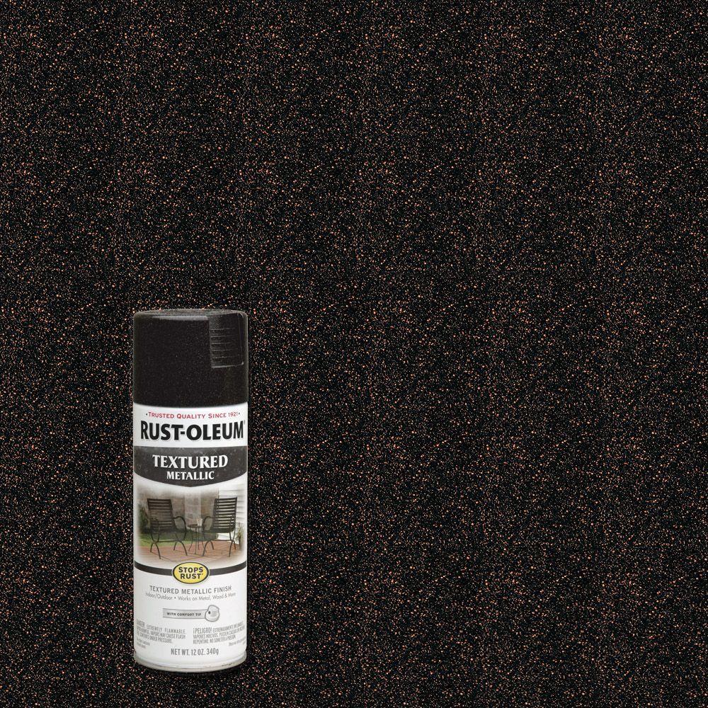 Rust-Oleum Stops Rust 12 oz. Textured Metallic Moonlight Copper Protective Spray Paint (6-Pack)