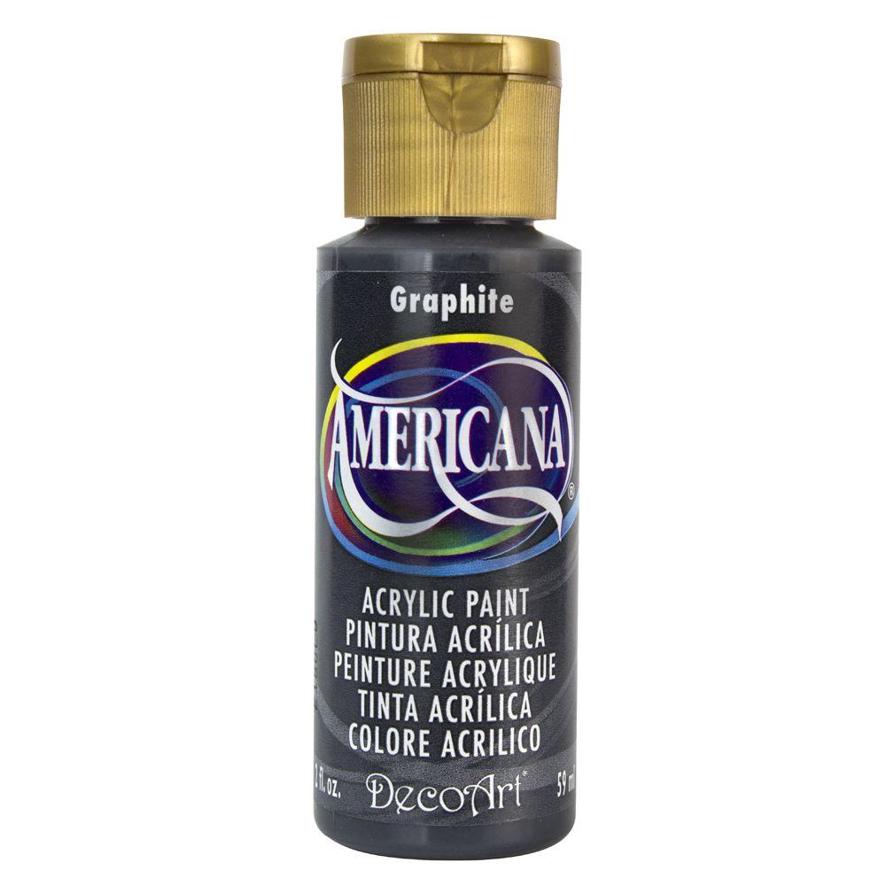 decoart americana 2 oz graphite acrylic paint da161 3 the home depot