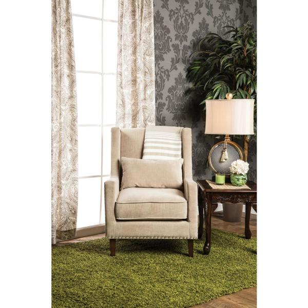 Tomar Ivory Flannelette Accent Chair Cm Ac6115iv The Home Depot