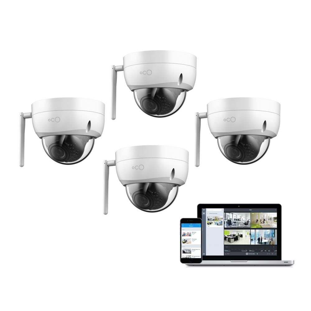 Pro Dome Outdoor/Indoor 1080p Cloud Surveillance and Security Camera with Remote Viewing (4-Pack) Pro Dome Outdoor/Indoor 1080p Cloud Surveillance and Security Camera with Remote Viewing (4-Pack)