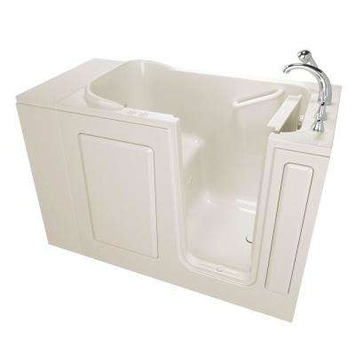 Value Series 48 in. Left Hand Walk-In Whirlpool and Air Bath Bathtub in Biscuit